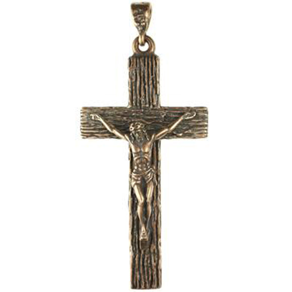 (bzp336-161) Solid Bronze, crucifix