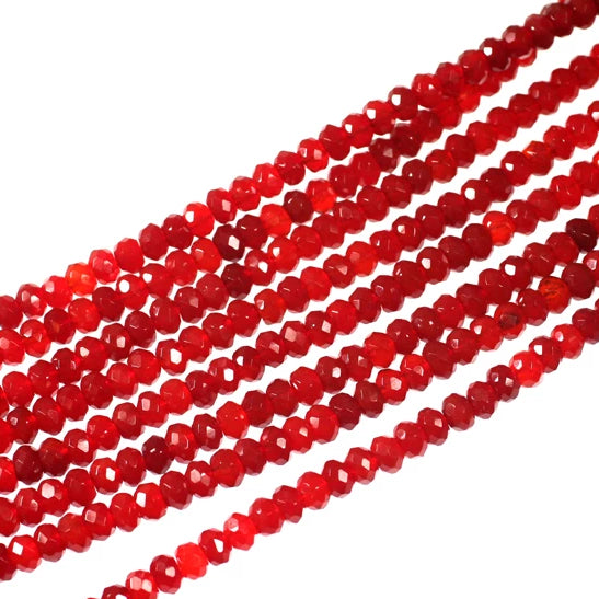 Carnelian 6mm Faceted Rondelle