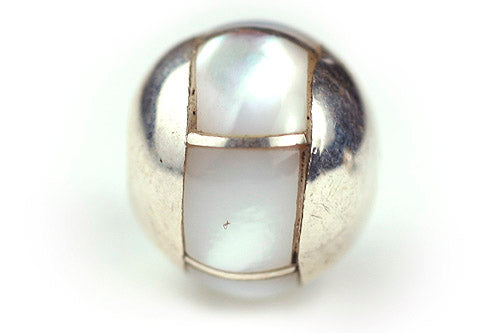 Inlay Round 10 mm White Mother-of-pearl