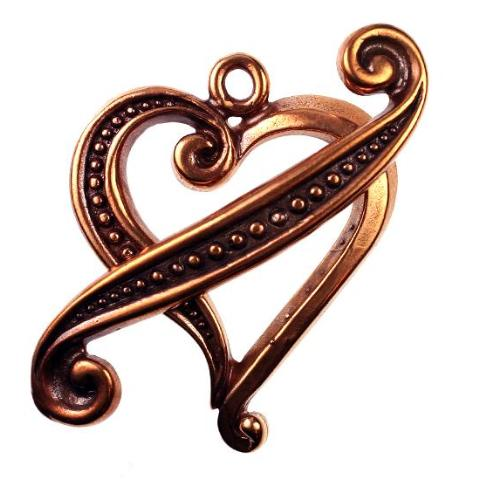 BZCT 8742 Bronze Heart Toggle