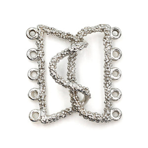 5 strand sterling hook clasp