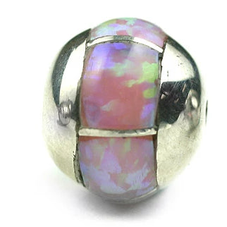 Inlay Round 10 mm Pink Synth Opal