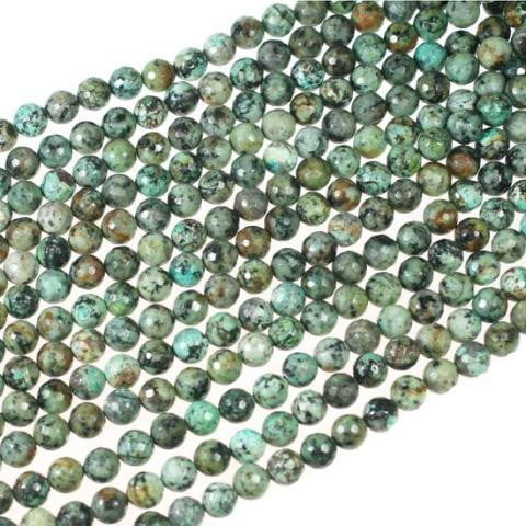 (africanturq002) African Turquoise 11mm Faceted - Scottsdale Bead Supply