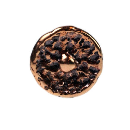 Bronze Textured Round Button