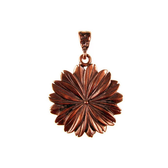 Solid Bronze Chrysanthemum pendant