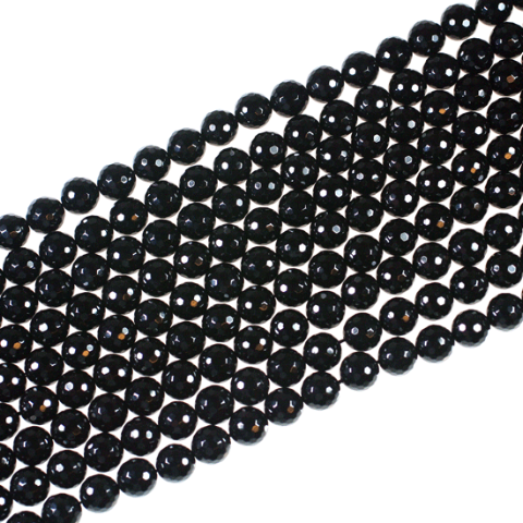 10mm Black Onyx Faceted