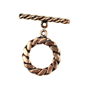 Bronze flattened twisted wire toggle