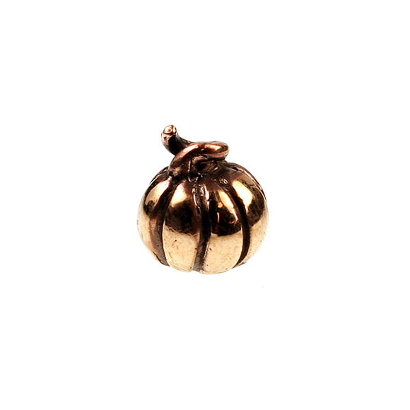 Bronze Pumpkin Bead