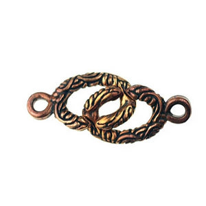 "Bronze ""pop top"" style Hook N eye, 2 part clasp-Small"