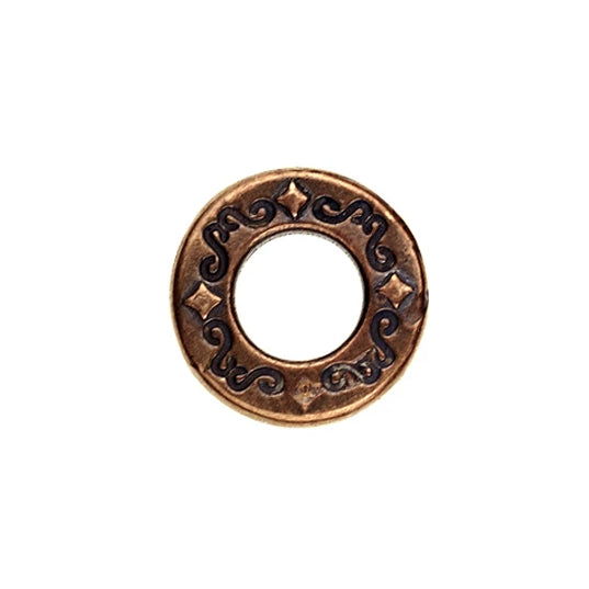 Bronze Link/Ring with Runes - both sides