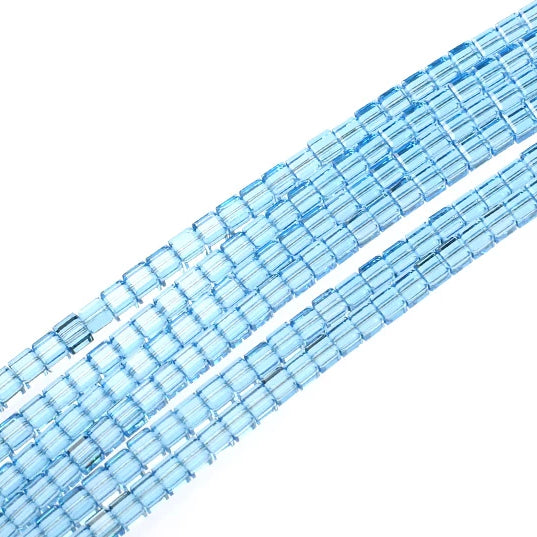 4mm Aquamarine Swarovski Crystal