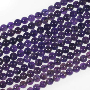 (ameth004) Amethyst 8mm Rounds - Scottsdale Bead Supply