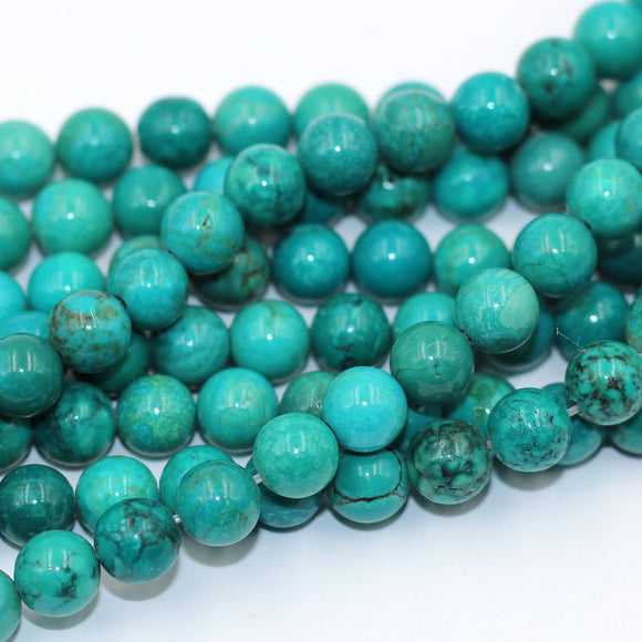 6mm round turquoise