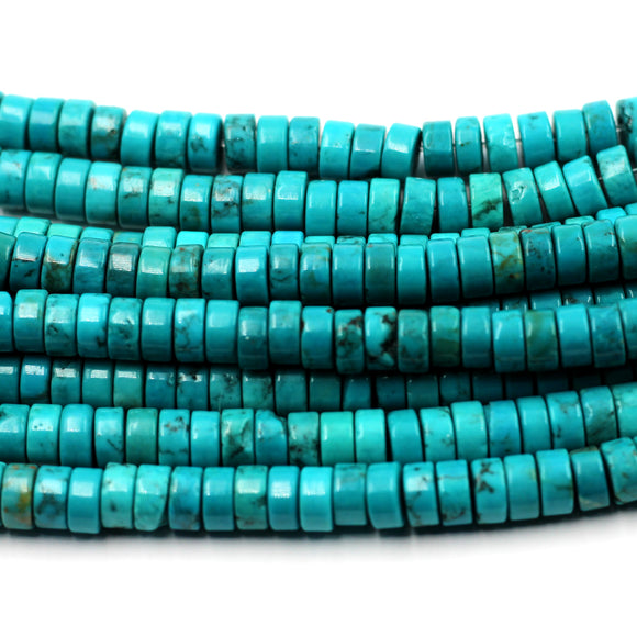6mm turquoise rondelles