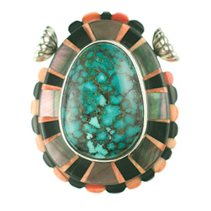 Turquoise Clasp with Inlay