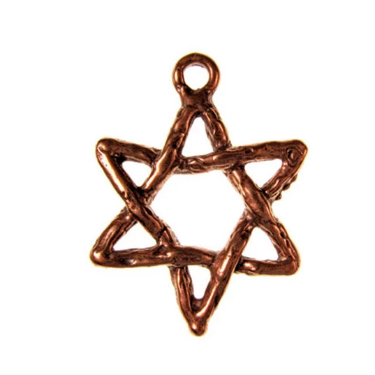 Solid Bronze rope form star of David