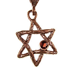 Bronze rope style Star of David