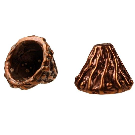 Bronze Textured Bead Cone