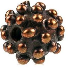 Bronze Dotted Round Bead