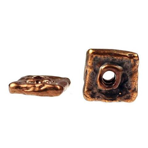 (bzbd027-9546) Solid bronze square spacer bead. - Scottsdale Bead Supply