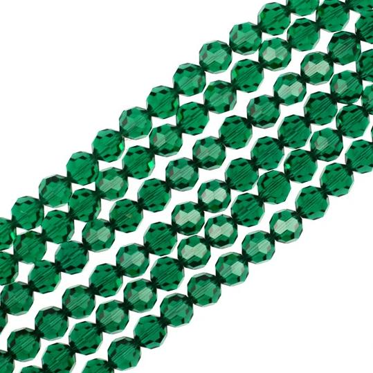 8mm Emerald Swarovski Crystal