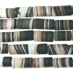 "(ba002) Banded Agate 16"" Strand - Scottsdale Bead Supply"