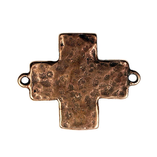 Bronze Hammered Texture Cross Link