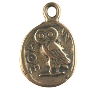 Greek coin with Owl