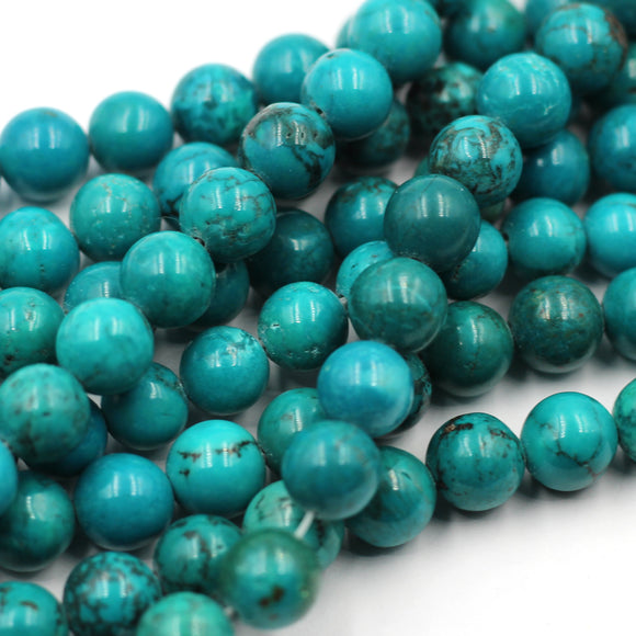 8mm  round turquoise