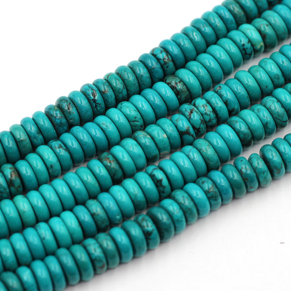 8mm Rondelle Turquoise