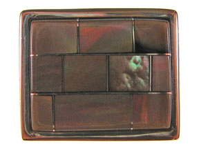 5-Strand Brown Lip Rectangle Box Clasp
