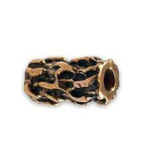 (bzbd004-9318) Bronze Rough Bark Textured Bead