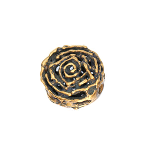 (bzbd017-9471) Bronze Free Form Large Round Hollow Bead