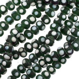 Green India Lamp Beads