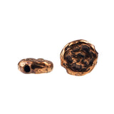 Bronze Textured Round Bead