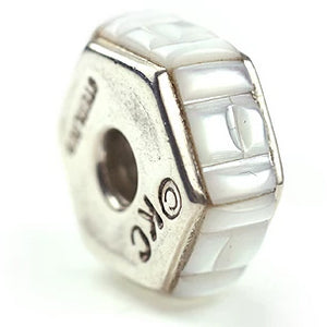 Inlay Hexagon 8 mm x 18 mm White Mother of Pearl