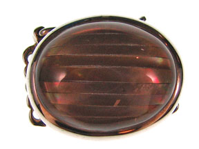 5-Strand Brown Lip Oval Box Clasp
