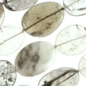Phantom Quartz Assorted Size Flat Oval