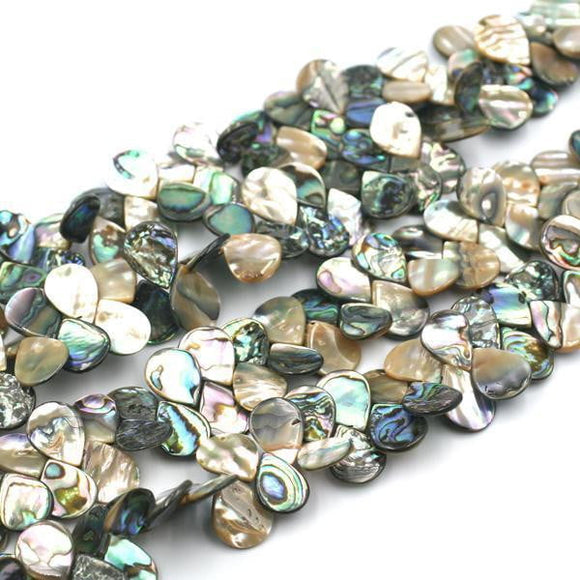(abalone003) Abalone top drilled tear drops - Scottsdale Bead Supply