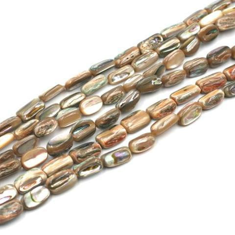 (abalone005) Abalone oval nuggets - Scottsdale Bead Supply