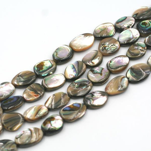 (abalone007) Abalone ovals - Scottsdale Bead Supply