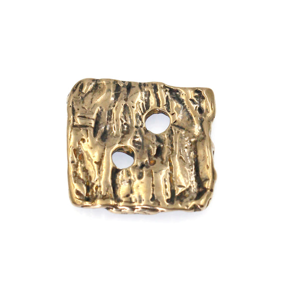 (bzbn022-N0155B) Bronze Square Button Clasp.