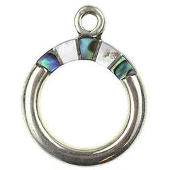 Black Lip, M.O.P. & Abalone Inlay Toggle Ring