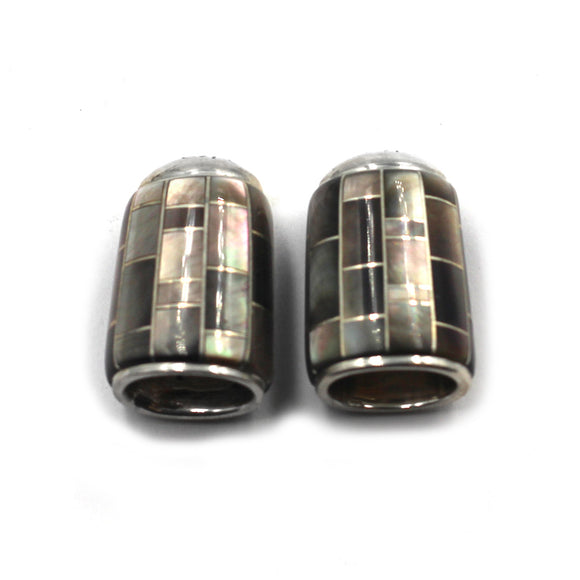 (IC034) Black Lip Shell Inlay Cones