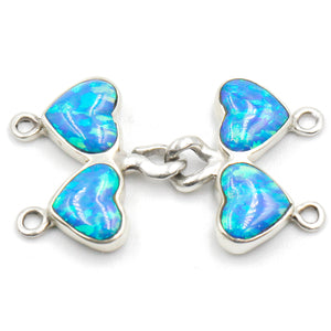 (ICL-030) 2-strd Medium Synthetic Blue Opal