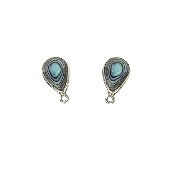 ET-028 Abalone Tear Drop Earring Tops