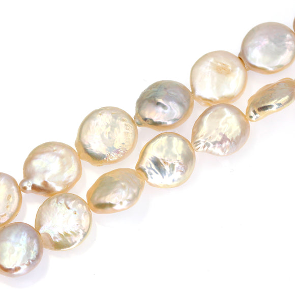 (fwp072) 13mm Fresh Water Pearl Coins