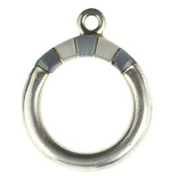 Hammer Shell & M.O.P. Inlay Toggle Ring