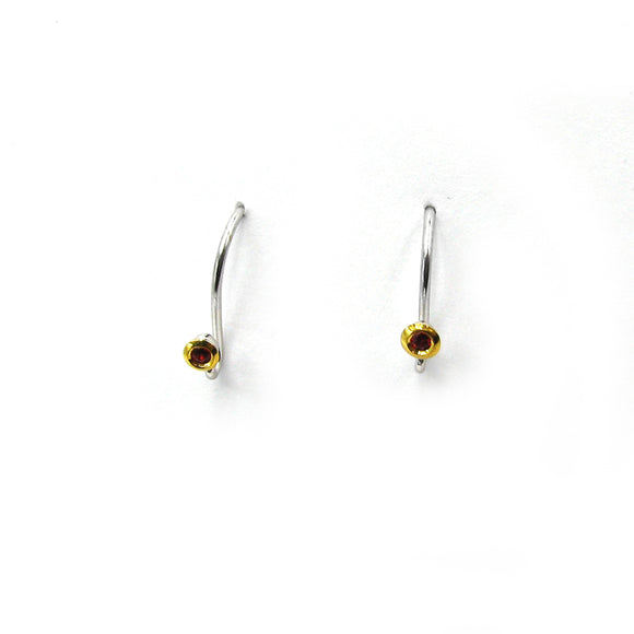 Sterling ear wires with sapphires