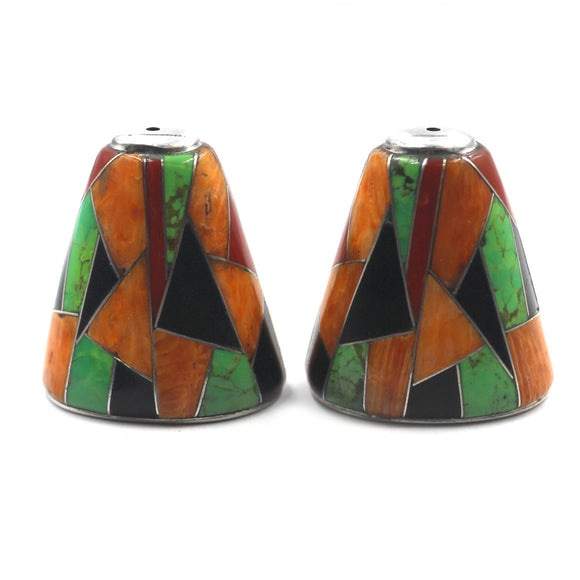 (IC002) Large Multi Stone Inlay Cones